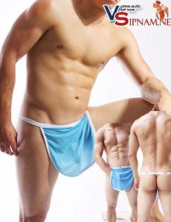 Quần lót tạp dề nam màu xanh